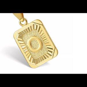 "Gold Filled Letter O Pendant 18"" Long Necklace"